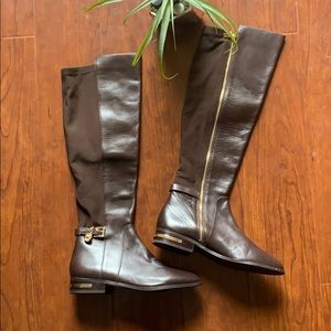 Leather Michael Kors Brown Boots